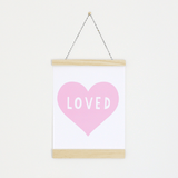 Pink Heart Canvas Banner  - The Project Nursery Shop - 1