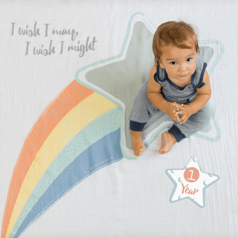 Organic Personalized Mini Rainbow Blanket