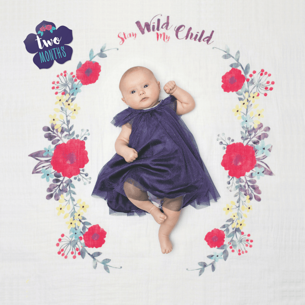 Stay Wild My Child Milestone Blanket + Card Set
