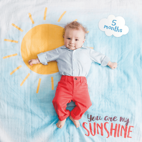 You Are My Sunshine Milestone Blanket and Card Set - Project Nursery