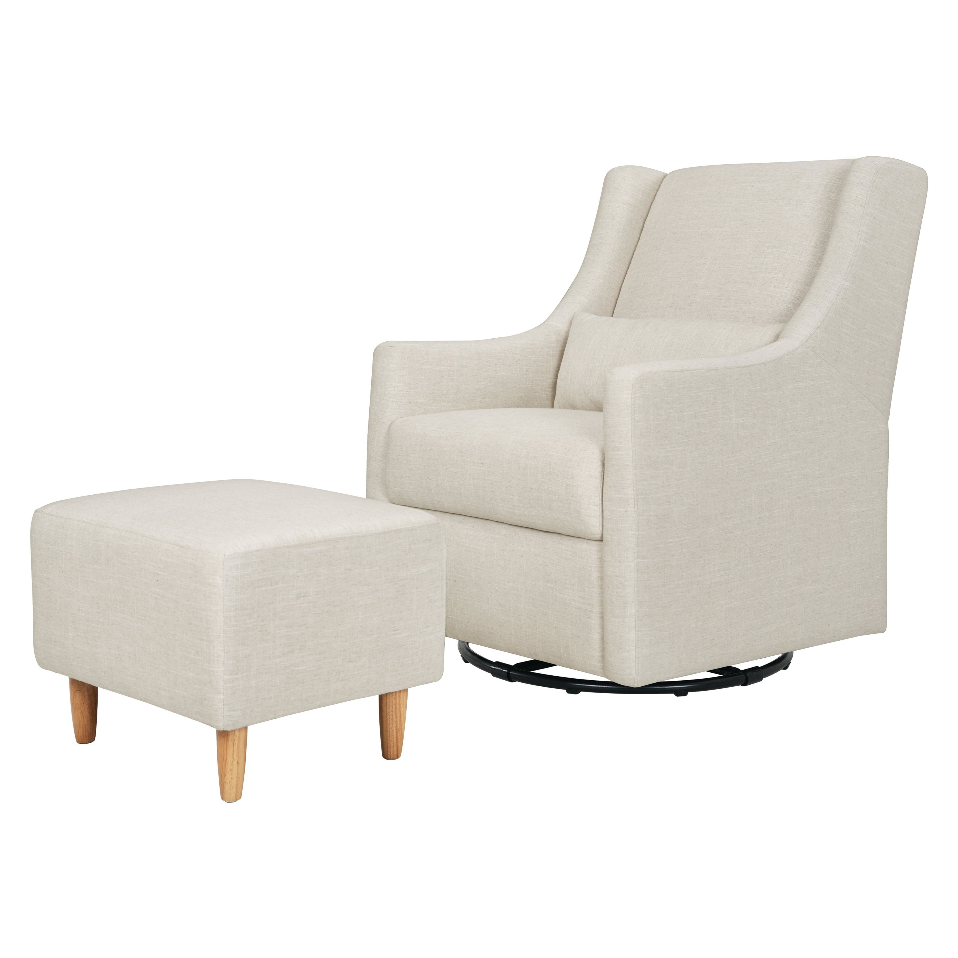 Toco Swivel Glider and Stationary Ottoman - Project Nursery
