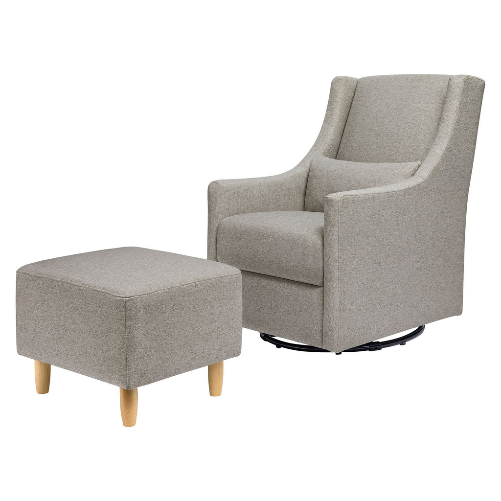 Toco Swivel Glider and Ottoman in Eco-Performance Fabric - Grey - Project Nursery