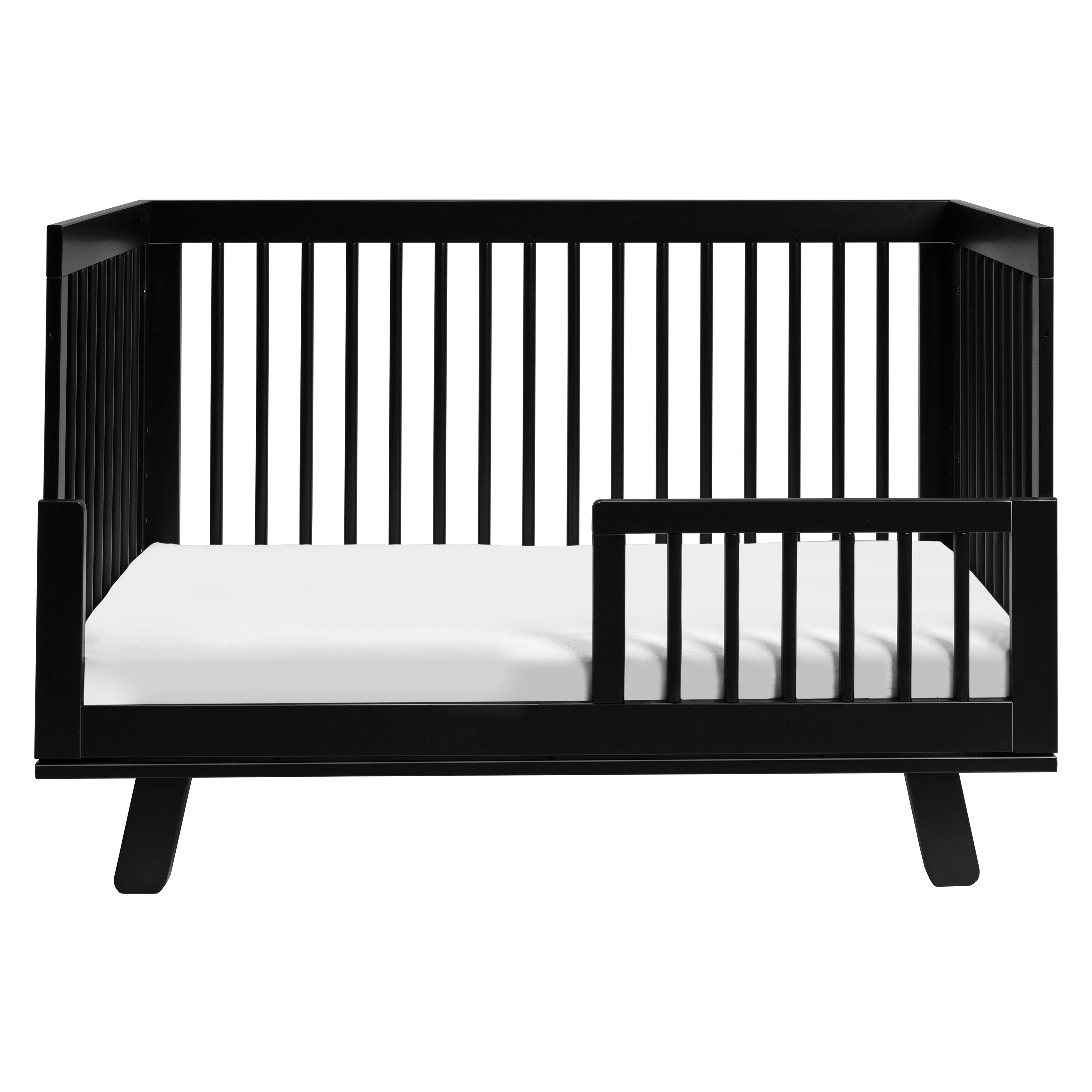 Hudson 3-in-1 Convertible Crib with Toddler Bed Conversion Kit - Black - Project Nursery