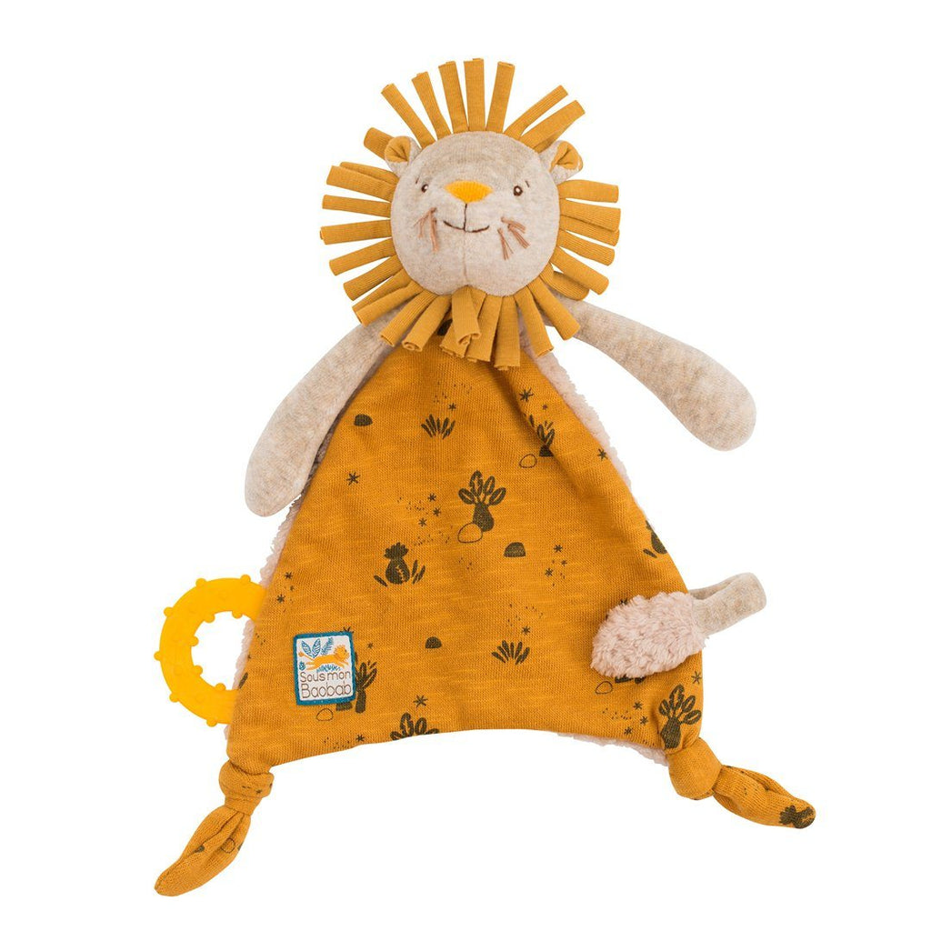 Lion Lovey with Pacifier Holder - Project Nursery