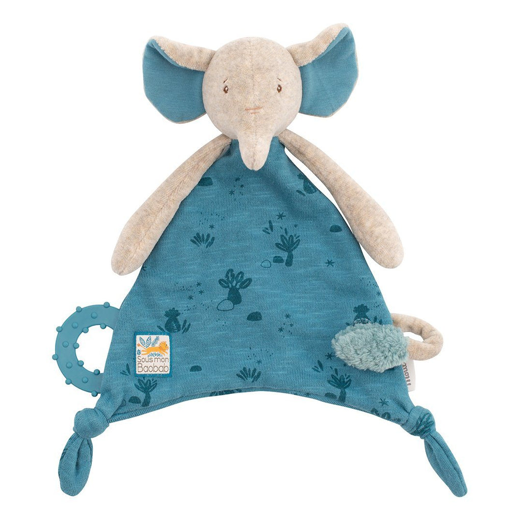 Elephant Lovey with Pacifier Holder - Project Nursery