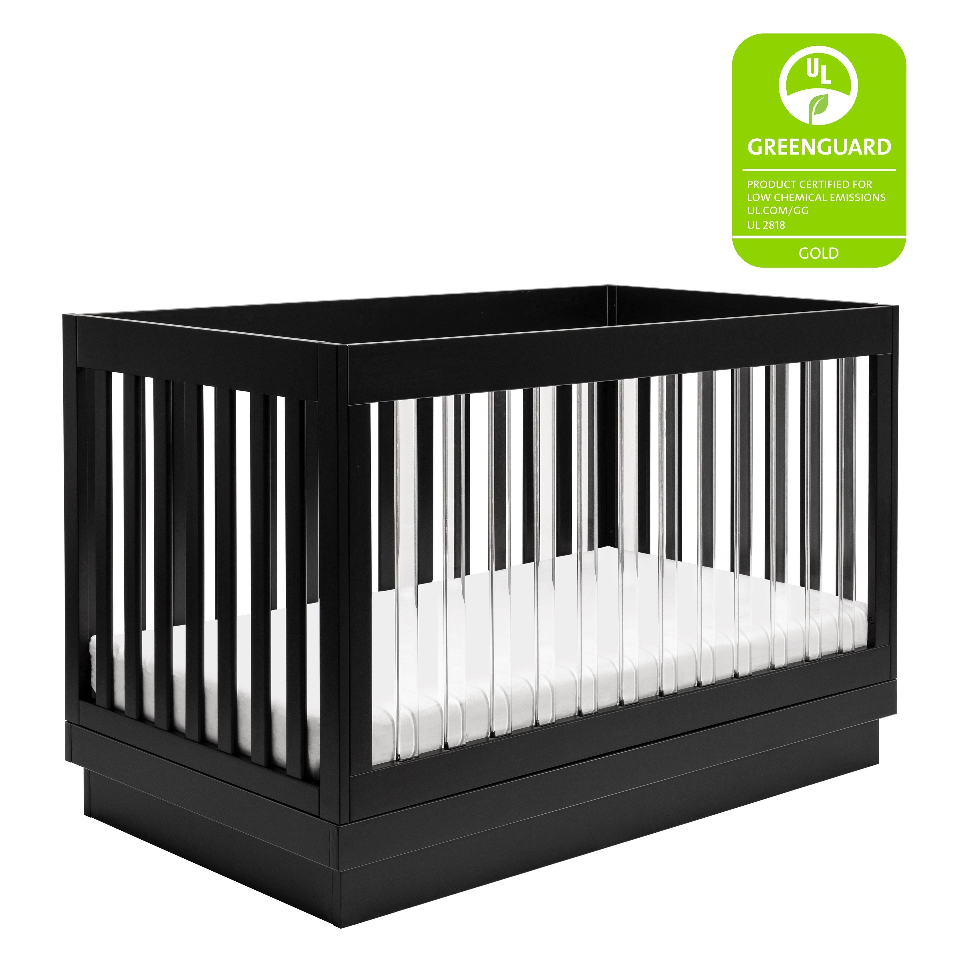 Harlow Acrylic 3 In 1 Convertible Crib With Toddler Bed Conversion Kit Project Nursery