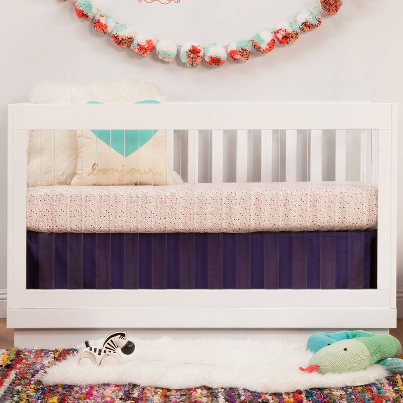 Harlow Acrylic 3-in-1 Convertible Crib with Toddler Bed Conversion Kit - Project Nursery