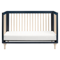 Lolly 3-in-1 Convertible Crib with Toddler Bed Conversion Kit in Navy - Project Nursery