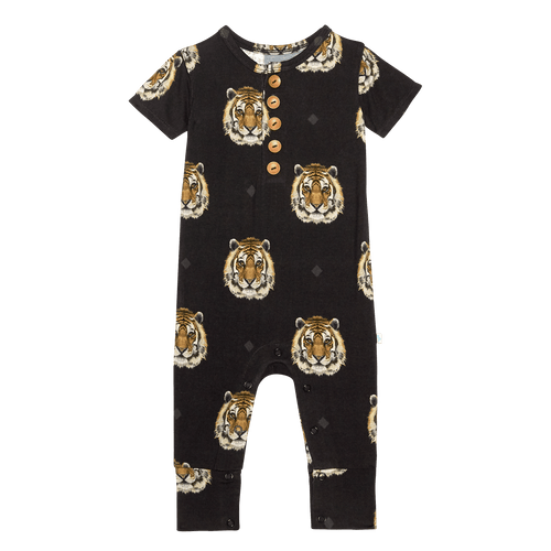 Mateo Short Sleeve Henley Romper - Project Nursery