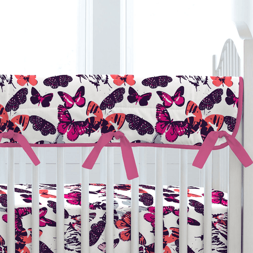 Butterfly Kisses Crib Rail Cover - Project Nursery