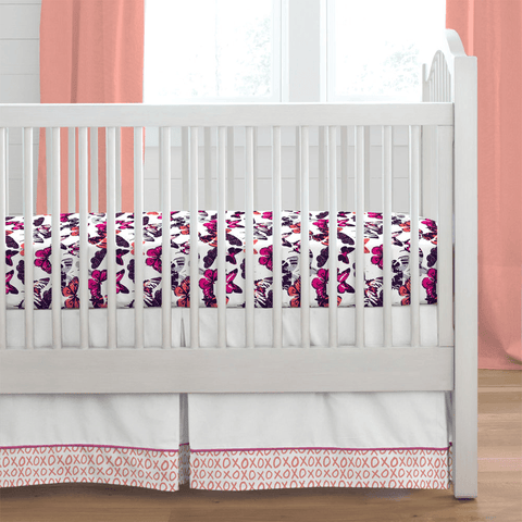 Pink Mountains Crib Skirt