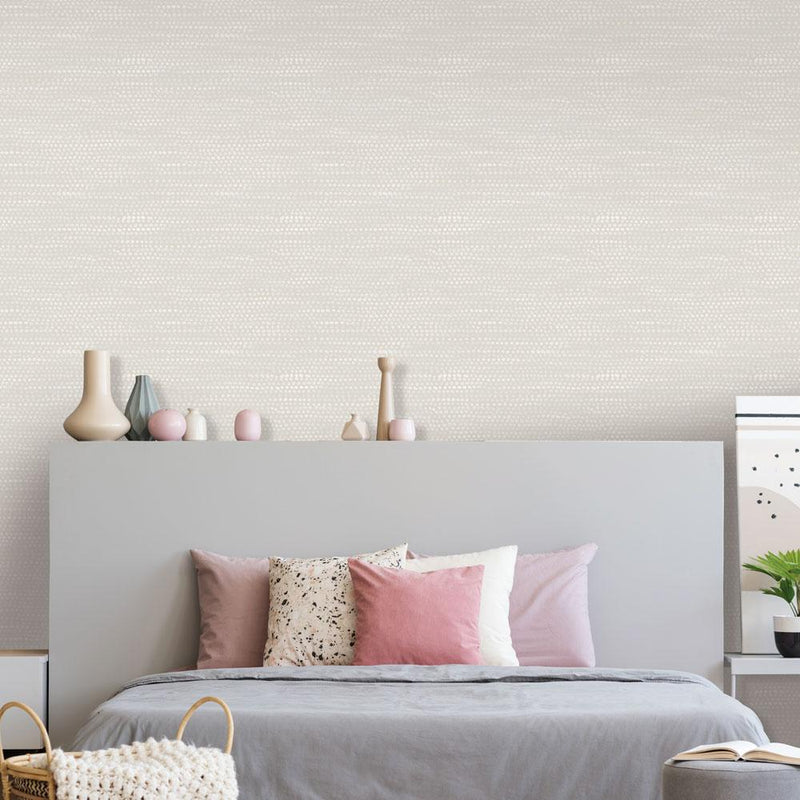 Moire Dots Wallpaper - Pearl Grey - Project Nursery