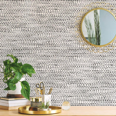 Moire Dots Wallpaper - Black + White - Project Nursery