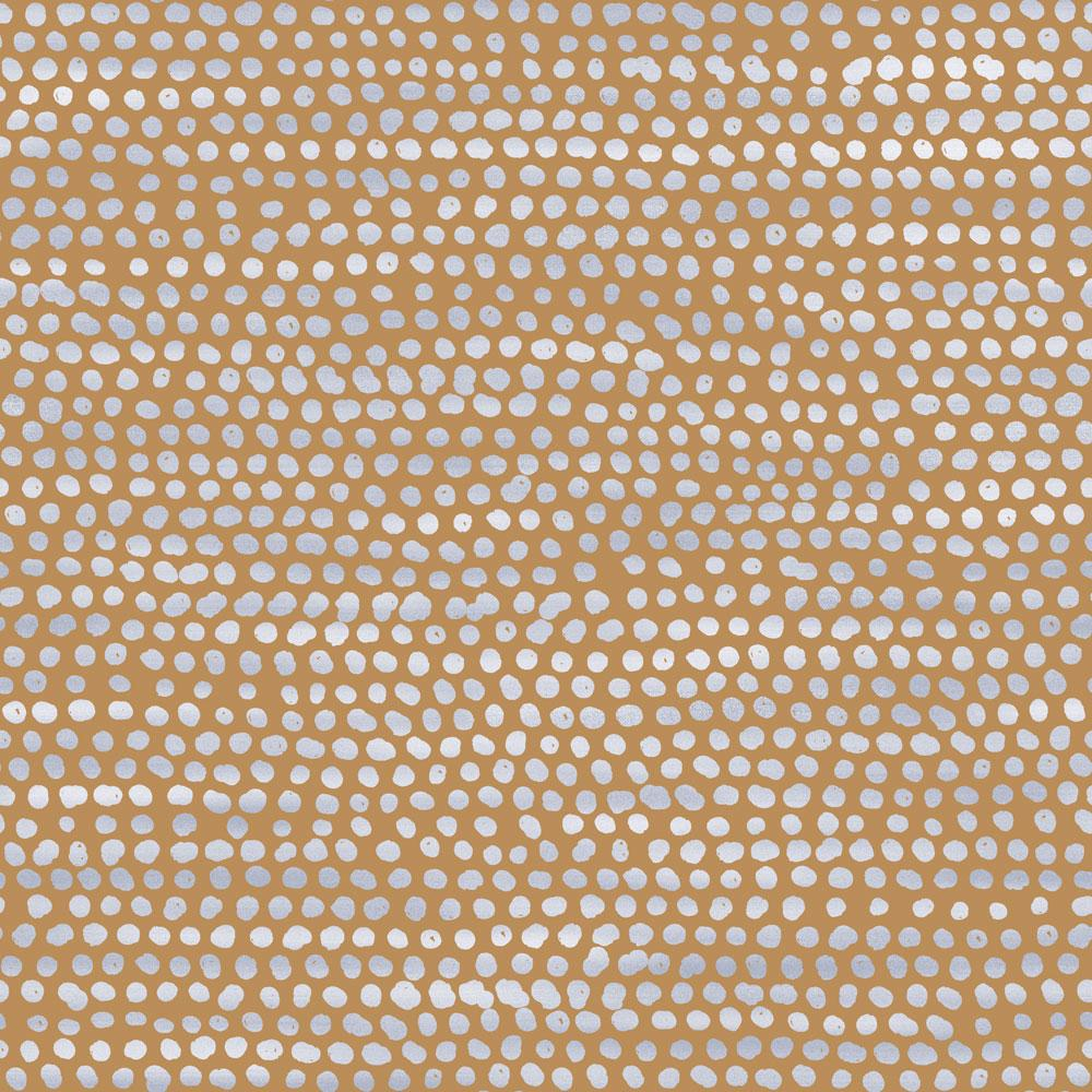 Moire Dots Wallpaper - Toasted Turmeric - Project Nursery