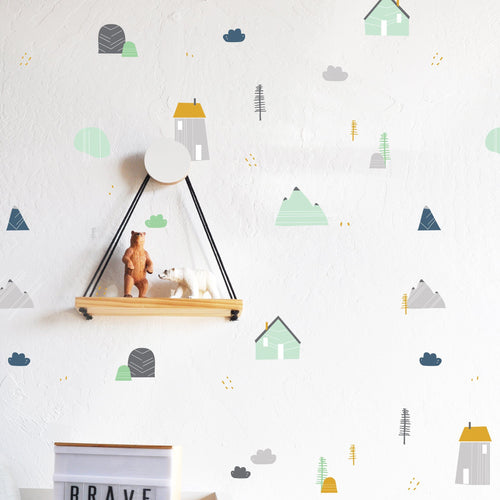 Mountain Retreat Colorful Compilation Wall Decal Set - Project Nursery