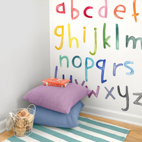 Lowercase Rainbow Letters Wall Decals - Project Nursery