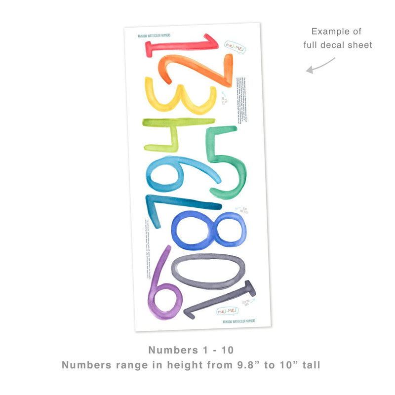 Rainbow Number Wall Decals - Project Nursery