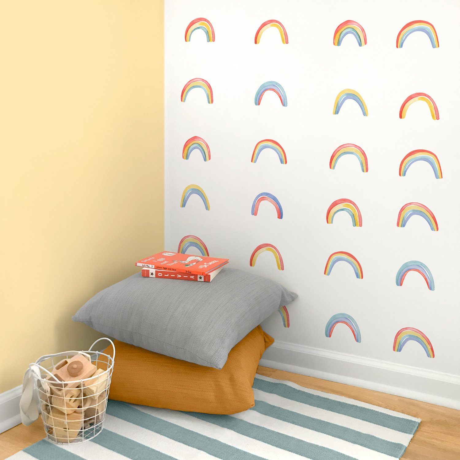Watercolor Rainbow Wall Decals - Project Nursery