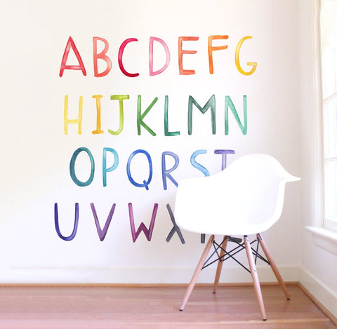 Rainy Rainbows Wall Decal Set