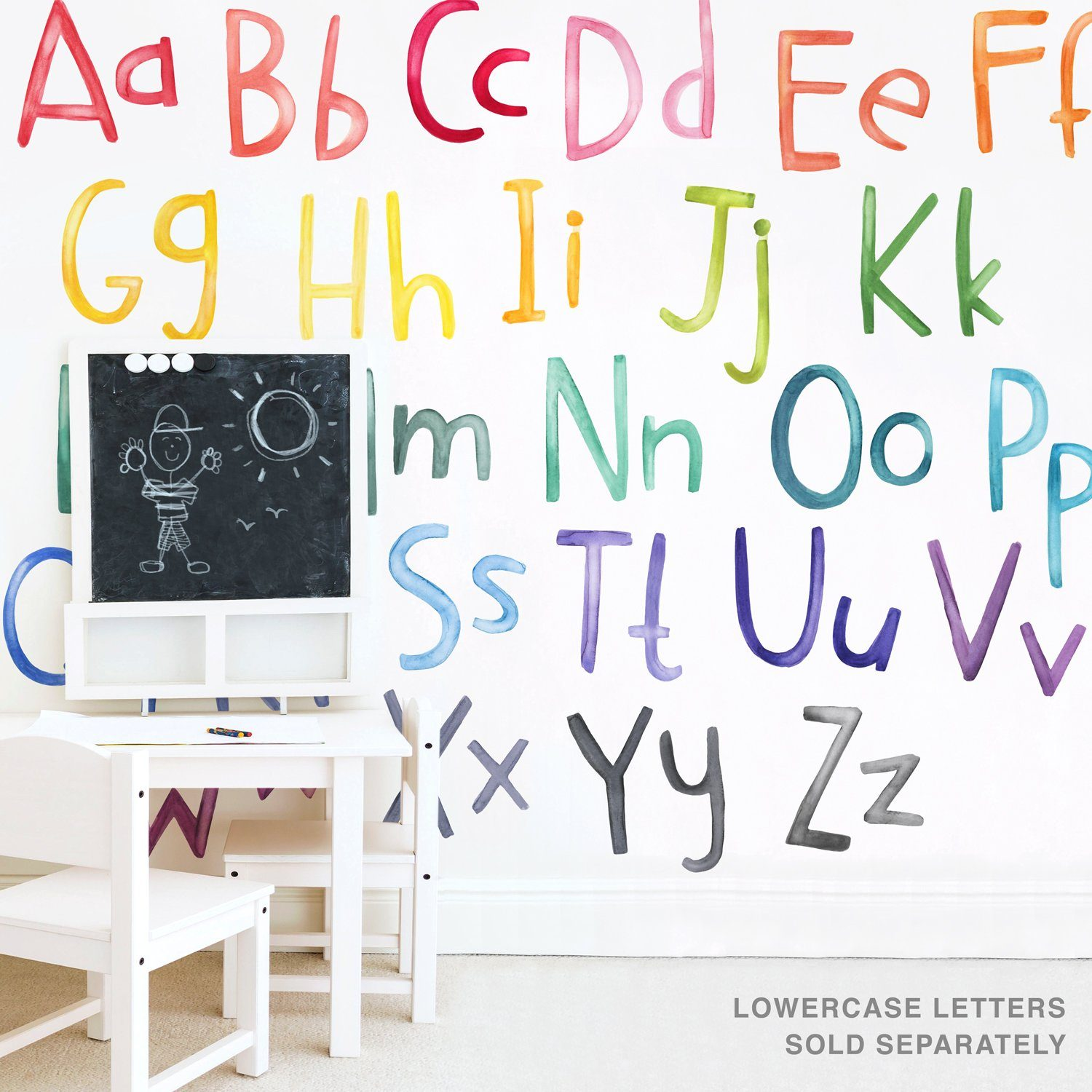 Uppercase Rainbow Letters Wall Decals - Project Nursery