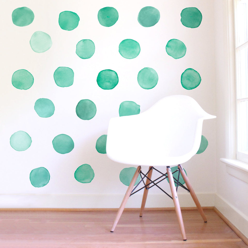 Large Watercolor Dots Wall Decals - Choose Your Color - Project Nursery