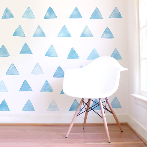 Large Watercolor Triangle Wall Decals - Project Nursery