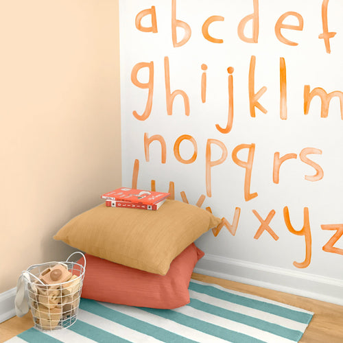 Lowercase Watercolor Letters Wall Decals - Multiple Colors - Project Nursery