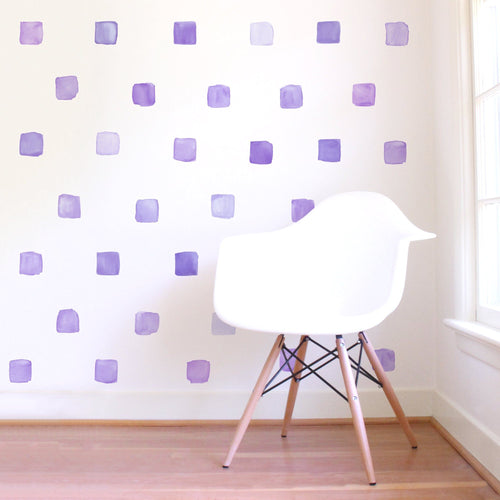 Small Watercolor Squares Wall Decals - Project Nursery