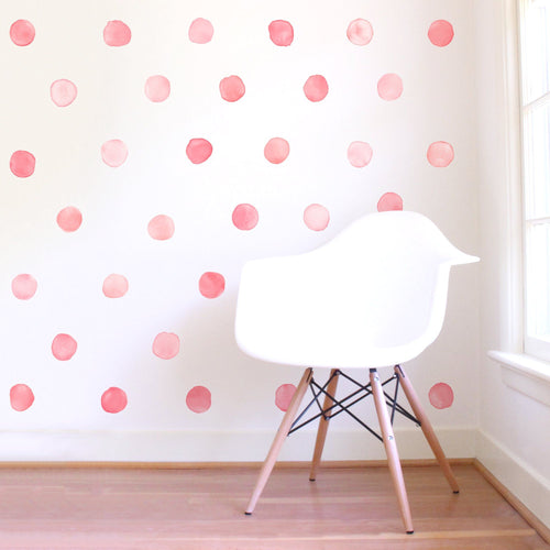 Small Watercolor Dots Wall Decals - Project Nursery