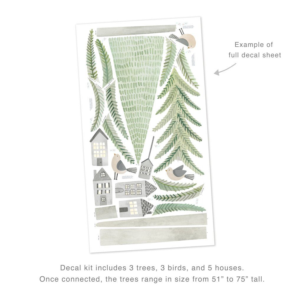 Evergreen Pine Forest Wall Decal Kit - Large - Project Nursery