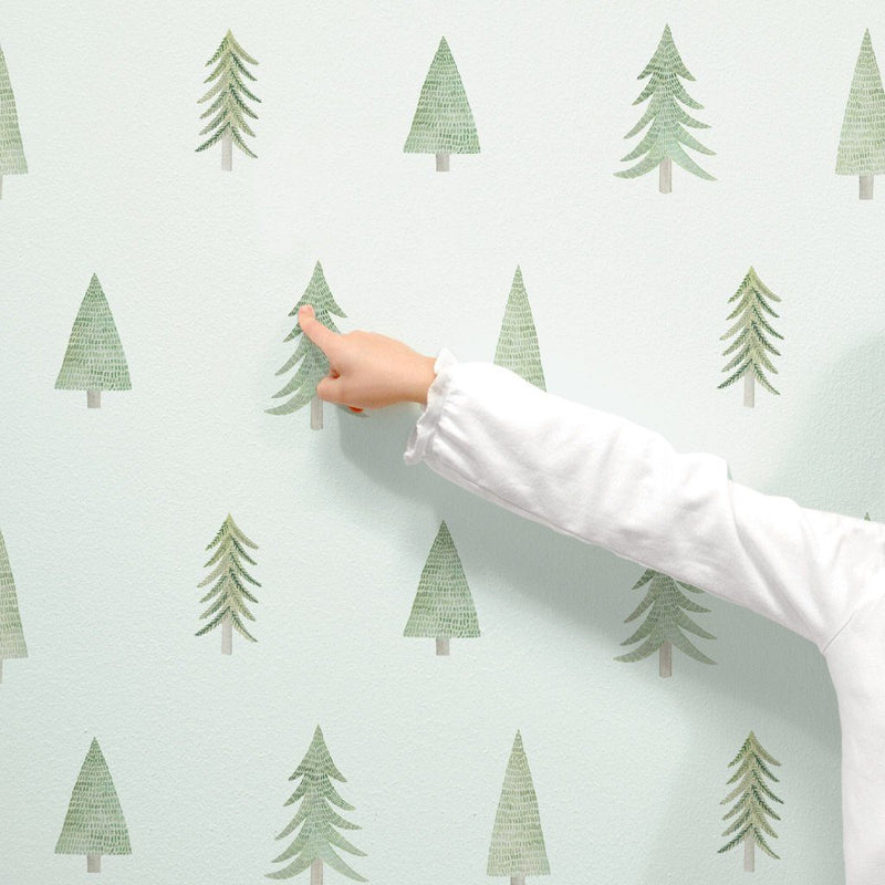 Evergreen Tree Toss Wall Decals - Project Nursery