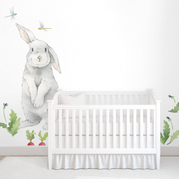 Baby Room Wall Décor Ideas Tips For Careful Parents: Big Bunny Wall Decal