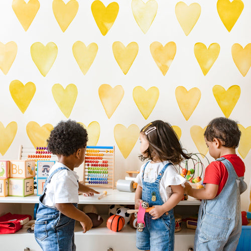 Large Watercolor Heart Wall Decals - Project Nursery