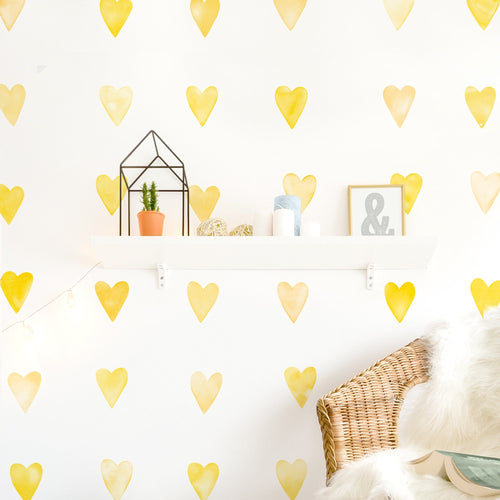 Small Watercolor Heart Wall Decals - Project Nursery
