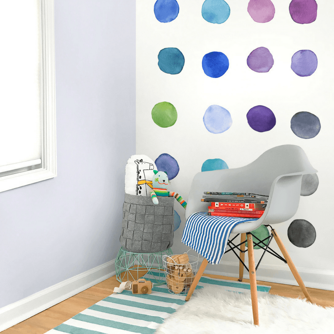 Large Rainbow Dots Wall Decals - Project Nursery