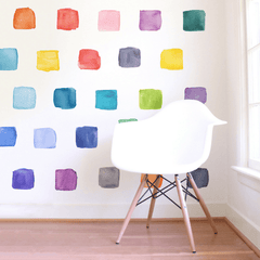 Large Rainbow Squares Wall Decals - Project Nursery