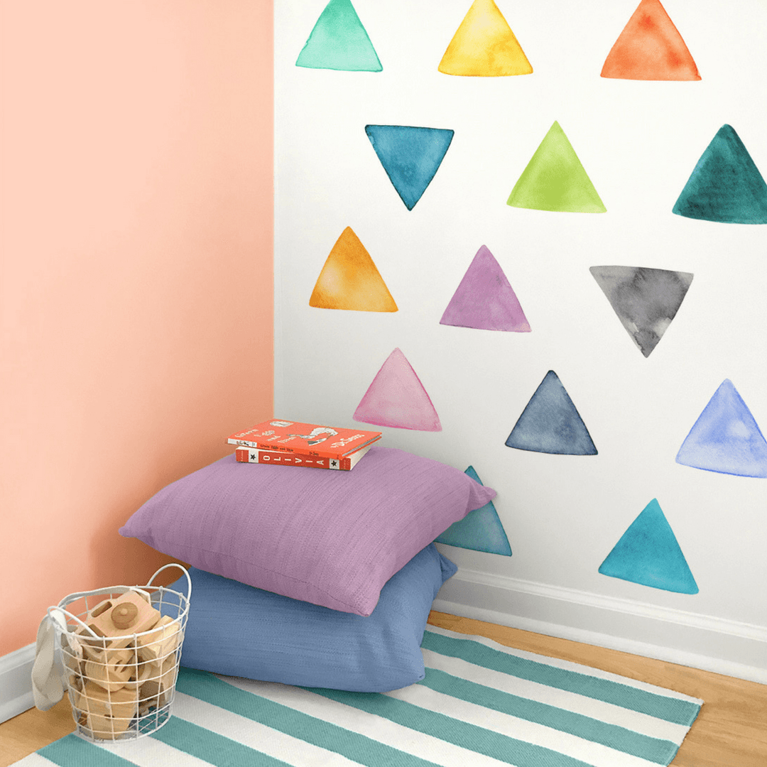 Large Rainbow Triangles Wall Decals - Project Nursery