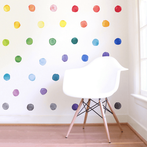 Large Rainbow Squares Wall Decals