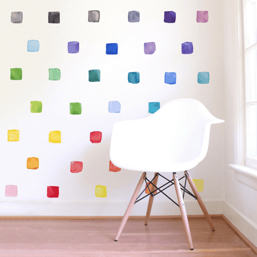 Small Rainbow Squares Wall Decals - Project Nursery