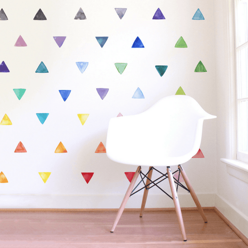 Small Rainbow Triangles Wall Decals - Project Nursery