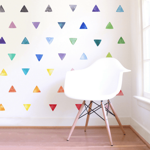 Watercolor Triangle Mural Wallpaper