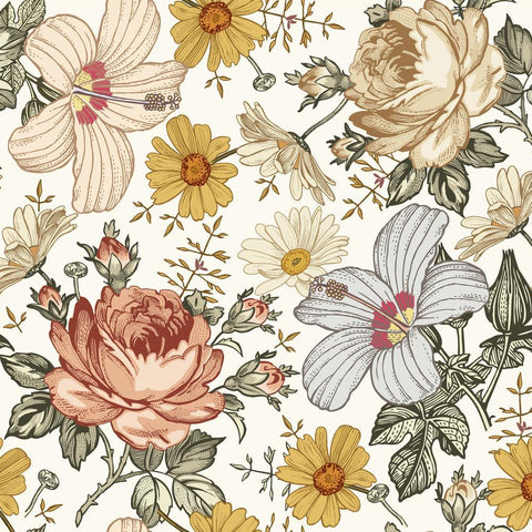 Marigold Wallpaper - Blush