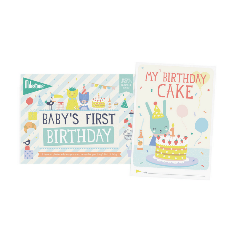 Baby's First Birthday Milestone Cards Booklet - Project Nursery
