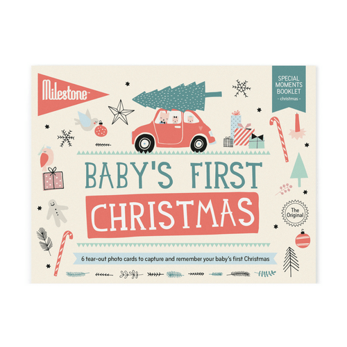 Baby's First Christmas Milestone Cards Booklet - Project Nursery