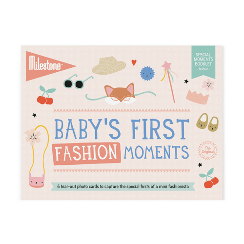 Baby's First Fashion Moments Milestone Cards Booklet - Project Nursery
