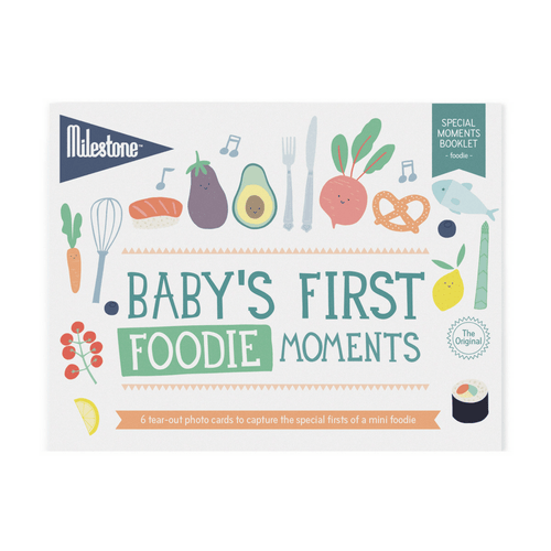 Baby's First Foodie Moments Milestone Cards Booklet - Project Nursery