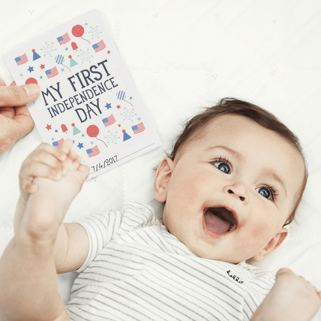Baby's First Holiday Milestone Cards Booklet - Project Nursery