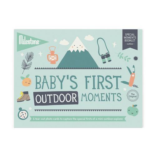 Baby's First Outdoor Moments Milestone Cards Booklet - Project Nursery