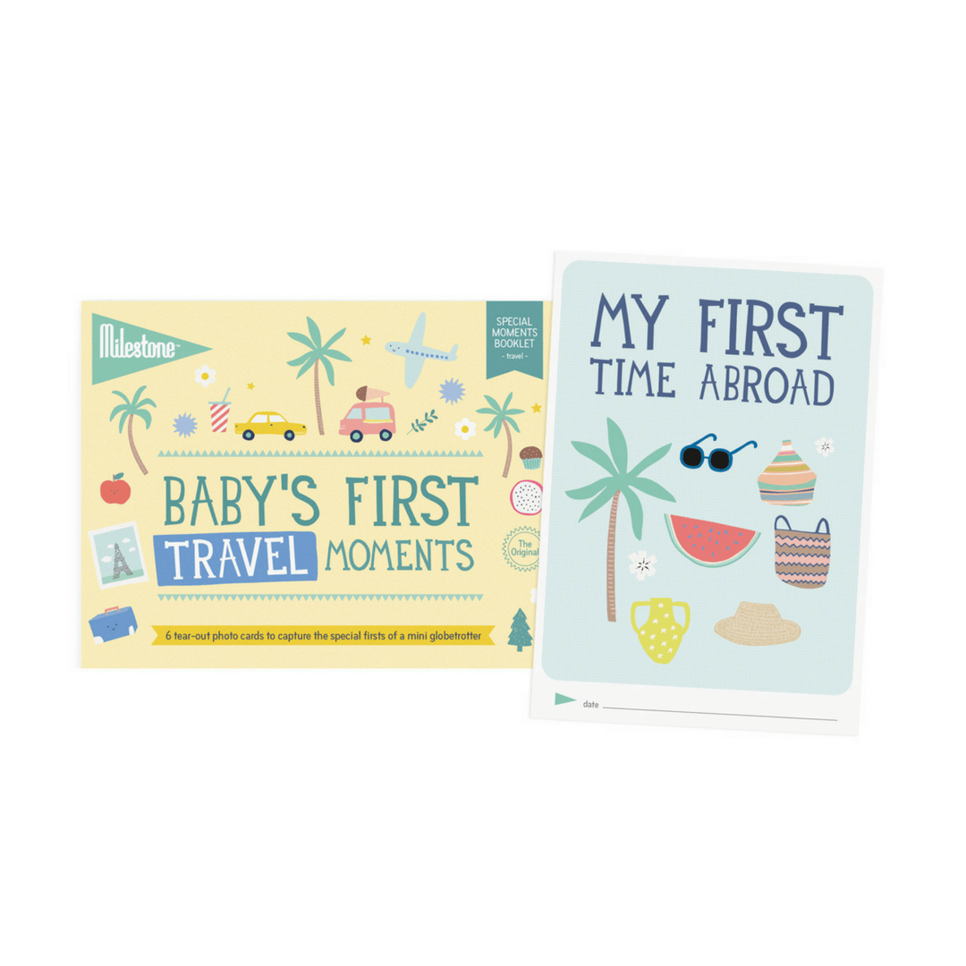 Baby's First Travel Moments Milestone Cards Booklet - Project Nursery
