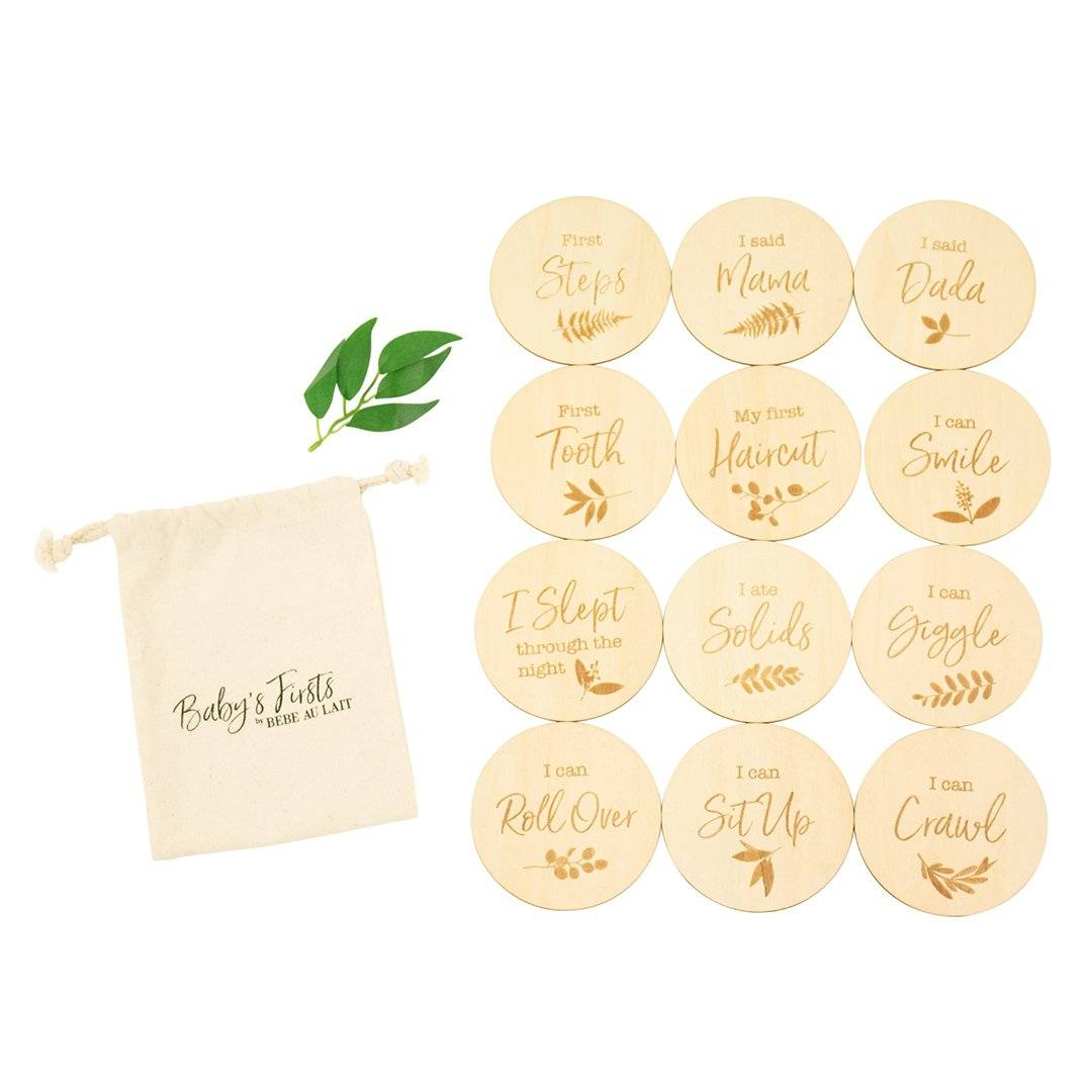 Baby's Firsts Milestone Moments Wooden Disc Set - Project Nursery